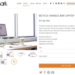 Oopsmark BICYCLE HANDLE BAR LAPTOP STAND